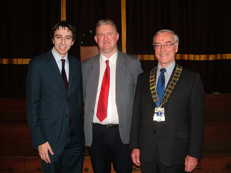 GR82BYOUNG Launch Simon Harris TD, Charlie Burke WMHA and Pat Byrne Mayor Of Wicklow